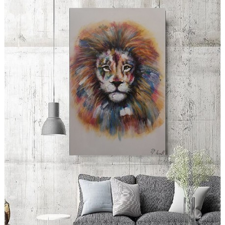 Maleri - Colorful Lion