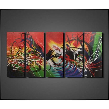 Abstrakt Gruppemaleri Beautiful Colours