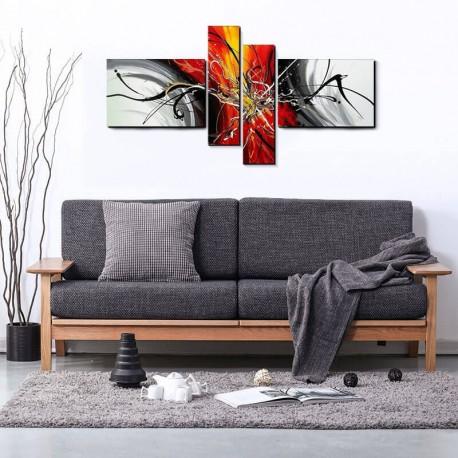 Abstrakt Gruppemaleri Livingroom Glory