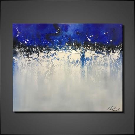 Abstrakt blåt maleri Blue Day