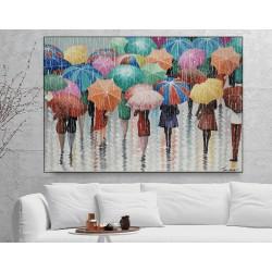 Malerier til salg - Raining