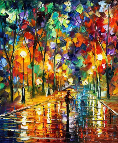 malerier med stærke farver